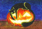 Hello Halloween by CheeCatKatFury