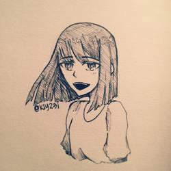 so i tried to ink by XxKiyotrashxX