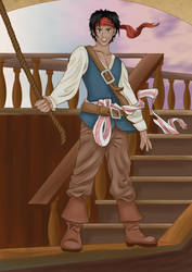 Young Captain Jack Sparrow by NocteDraconis