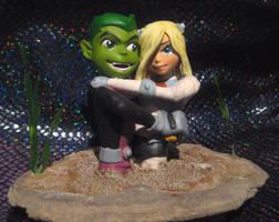 Terra loves Beastboy quicksand by TeenTitans4Evr