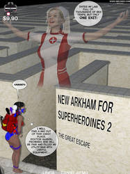 New Arkham for Superheroines 2 The Great Escape by Daniel-Remo-Art