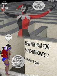 New Arkham for Superheroines 2 The Great Escape NC by Daniel-Remo-Art