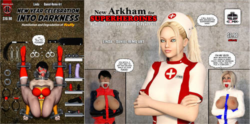 New Arkham For Superheroines SALE by Daniel-Remo-Art