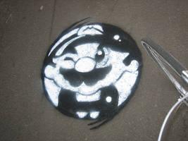 Mario stencil by Ruudj3