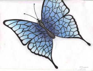 Blue Butterfly by Firehorse-demon