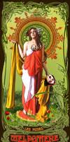 Melpomene- Art Nouveau poster by aelirenn-kw