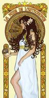 Urania- Art Nouveau poster by aelirenn-kw