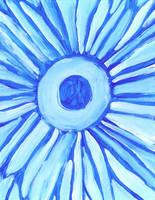 Blue Gerber Daisy by Sularias