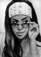 Aaliyah Haughton . by IK90