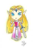 Zelda Chibi by CapitaineBlue