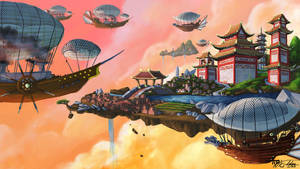Approaching Peking: The Red Queen's Port by Ito-Saith-Webb