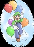 I love the balloon man so I drew him by Zieghost