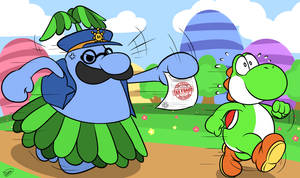 Yoshi Has Committed Tax Fraud by Zieghost