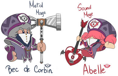 Jambastion Mage FCs ~ Bec de Corbin and Abelle by Zieghost