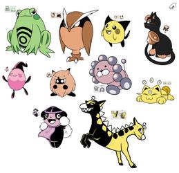 Pokemon Gold ~ unused friends! by Zieghost