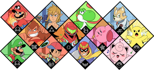 Super Smash Bros. Ultimate - Original 12 by Zieghost