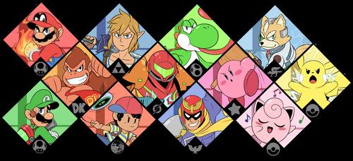 Super Smash Bros. Ultimate - Original 12 by Zieghost