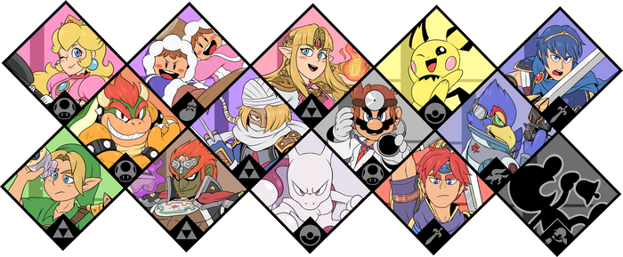 Super Smash Bros. Ultimate - Melee Fighters by Zieghost