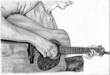 Gitarrenspieler by niemandswort