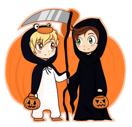 (Commission) Halloween Costumes by noorin