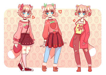 Strawberry Outfits by noorin