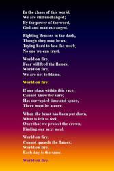 World on Fire by bixster