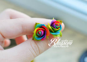 Rainbow earrings by BlossomHandmade