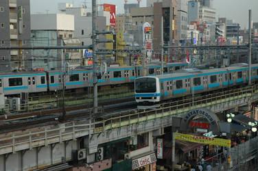 JR Line in Tokyo, Japan by JAFNOVA
