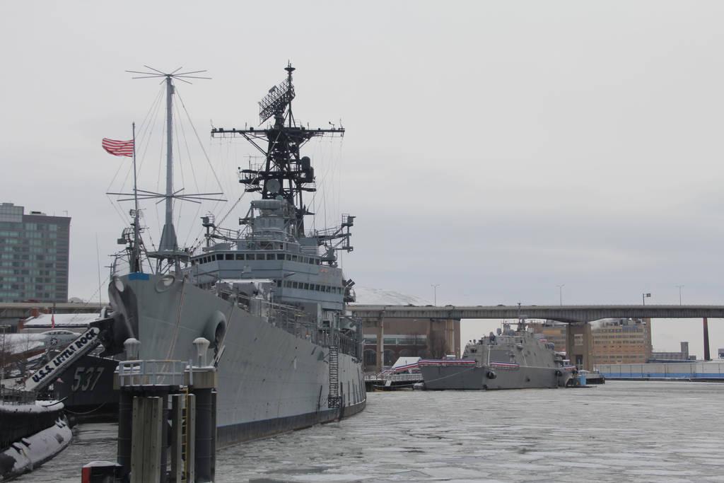 USS Little Rock CLG-4 meets USS Little Rock LCS-9 by JAFNOVA