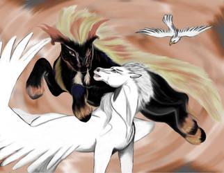 Pegasus versus Nightmare by Tsaag
