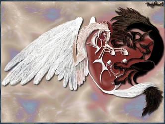 Althear and Pegasus wallpaper by Tsaag
