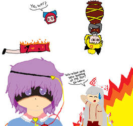 Some Touhou Doodles by MidnaKoopa