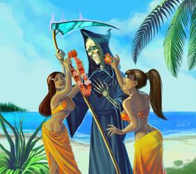 2 hula girls and one Death by gaallo