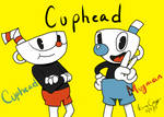 Cuphead and Mugman by KayceInk