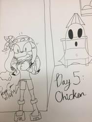 Inktober Day 5 - Chicken by KayceInk