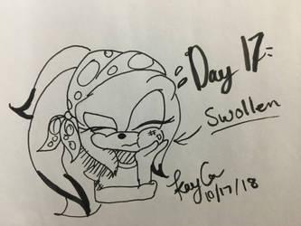 Inktober Day 17 - Swollen by KayceInk