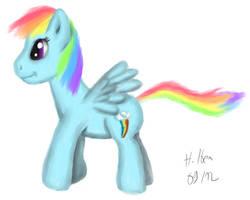 Rainbow Dash Drawing 09/12 by caffeinejunkie