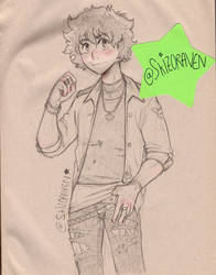 Grunge clothes over grunge paper by Skizoraven