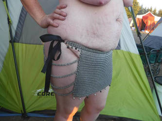 Chainmail loincloth style skirt.  ( Side) by ChainDreamzDesign