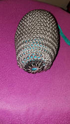 Chainmail dice bag (Photo 2) Bottom by ChainDreamzDesign