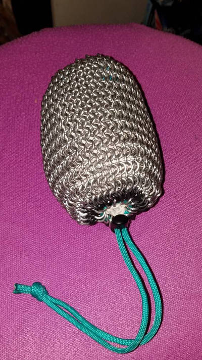 Chainmail dice bag ( Photo 3) Front by ChainDreamzDesign