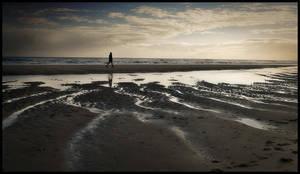 Walking alone ... by MOSREDNA
