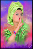 Green winks by Predator2104