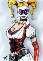 Arkham Asylum Harley Quinn by mmunshaw