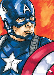 Captain America by mmunshaw