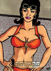 Archer AE Sketch Card of Lana by mmunshaw