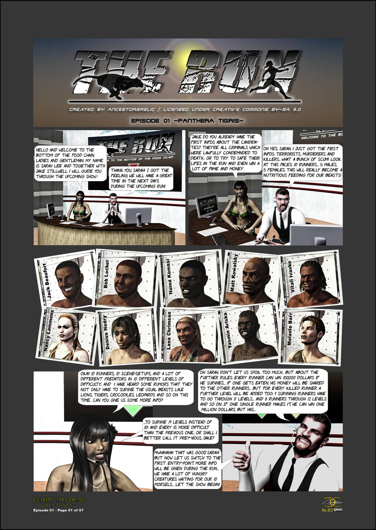 DAMNADAS -The Run- / Episode 01, Page 01 of 07 by ...