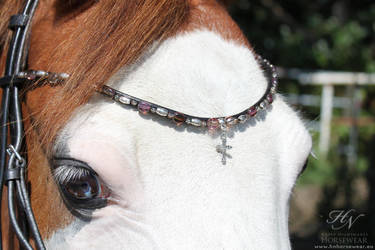 Cross pendant browband by WhiteFacedPony