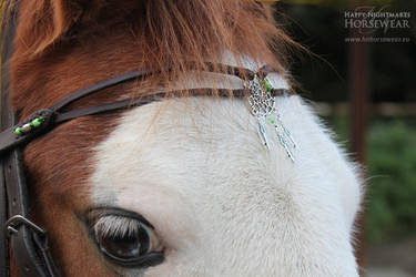 Dream catcher browband by WhiteFacedPony