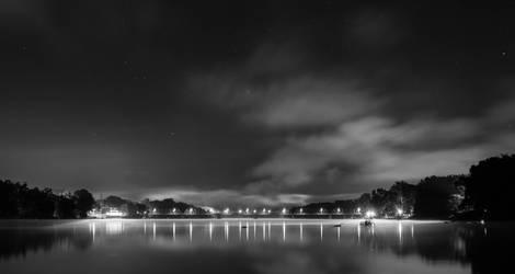 New Hope/Lambertville Bridge in Black and White by dallasgutauckis
